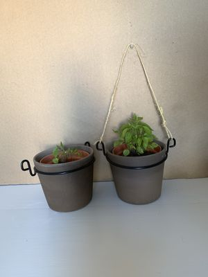 flower pot and hanging shelf for Sale in Santa Ana, CA