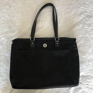 Tommy Hilfiger Large Black Monogram Logo Tote Bag for Sale in Miami, FL