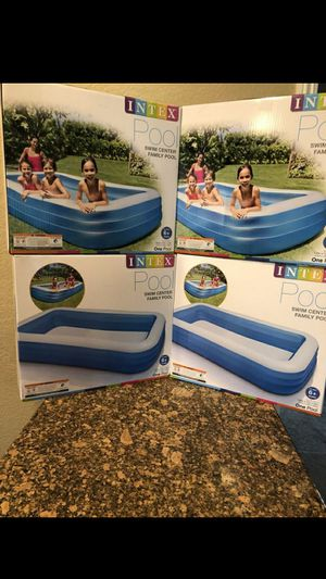 """BRAND NEW SWIMING POOL INTEX INFLATABLE SWIM CENTER FAMILY LOUNGE POOL, 120""""X 72""""X 22"""" FIRM $40EACH for Sale in Fontana, CA"""