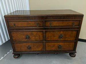 1900s William and Mary Antique Marquetry Burled Walnut Dresser for Sale in Seattle, WA