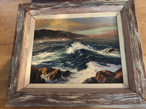 Beach ocean scene painting on canvas for Sale in Green Lake, WI