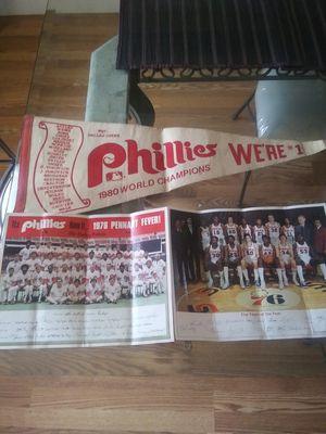 Vintage Phillies & 76ers memorabilia 1976 for Sale in Williamstown, NJ
