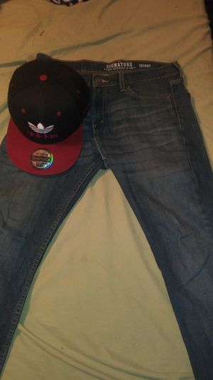 32 30 men's Levi's skinny jeans and Adidas hat $20 for both for Sale in Auburndale, FL