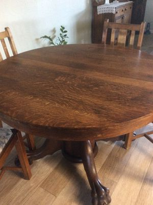 Antique Dining Table with Chairs for Sale in Tempe, AZ
