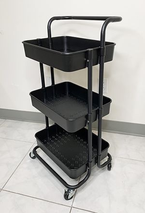 """New $30 each 3-Tier Rolling Utility Cart Mobile Storage Oranizer Home Office 17x14x34"""" (2 Color) for Sale in South El Monte, CA"""
