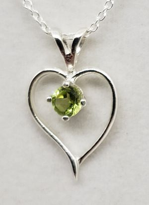Natural Peridot Heart Necklace for Sale in Justin, TX