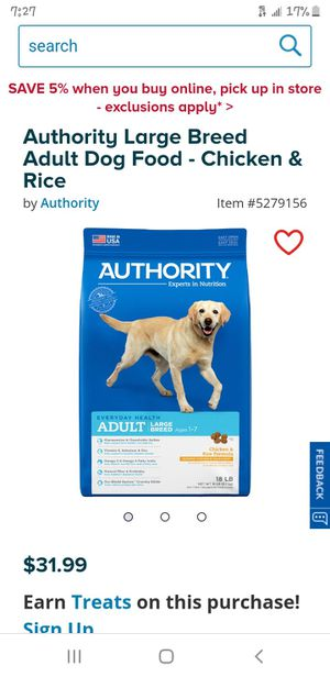 Authority dog food for Sale in Glendale, AZ