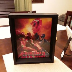 Marvel Captain America Holographic Picture With Frame for Sale in Surprise, AZ