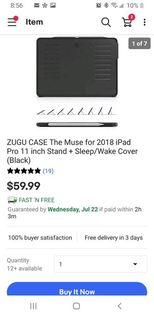 ZUGU CASE The Muse for 2018 iPad Pro 11 inch for Sale in Tolleson, AZ