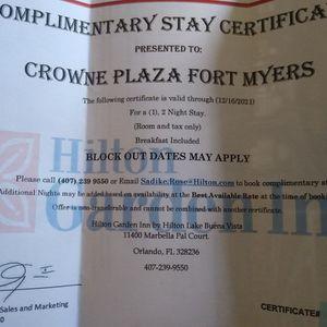 2 Night Stay, Hilton Garden Inn, Lake Buena Vista, Orlando for Sale in Cape Coral, FL