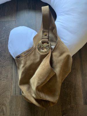 Michael Kors tan suede hobo bag for Sale in Zelienople, PA