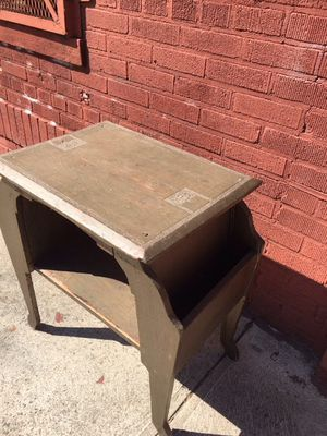 Vintage Wooden Table and Magazine Rack for Sale in New York, NY