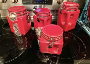 Red Kitchen Storage Canisters for Sale in Itasca, IL