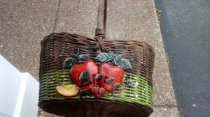 Super cute antique hand painted basket for Sale in Nashville, TN