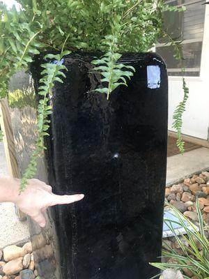 Large black flower pot for Sale in Virginia Beach, VA
