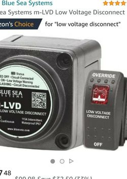Blue Sea Systems m-LVD Low Voltage Disconnect for BOAT, RV, solar for Sale in Fair Oaks,  CA
