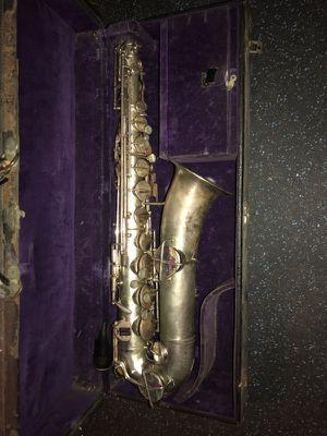 Vintage Silver 1920's Buescher Elkhart True Tone Saxophone for Sale in Southington, CT