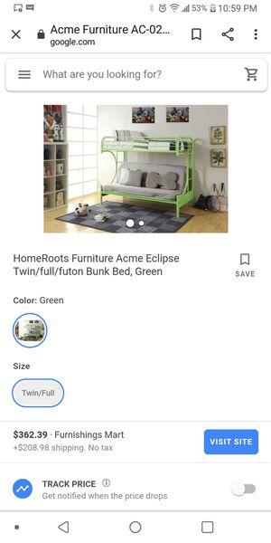 NIB Green Twin/full/futon bunkbed for Sale in Columbus, OH