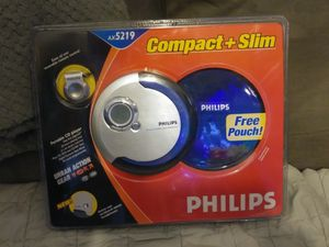 Philips AX5219 Compact + Slim Portable CD Player for Sale in West Deptford, NJ