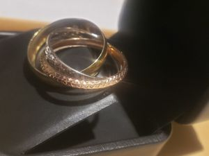 Beautifull 14k three tone wedding band lady's💍 ring size 7 for Sale in Ontario, CA