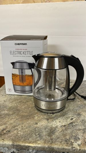 Chefman electric tea kettle coffee pot RV camping for Sale in Three Rivers, MI
