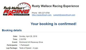Rusty Wallace Racing Experience for Sale in Hyattsville, MD