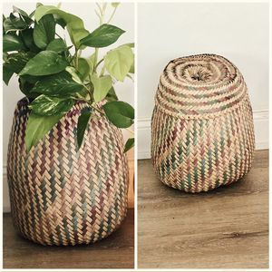 Plant basket planter or decorate basket tiki wicker for Sale in Decatur, GA