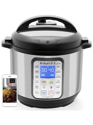 Instant Pot Smart WiFi 8-in-1 Electric Pressure Cooker, Slow Cooker, Rice Cooker, Steamer, Saute, Yogurt Maker, Cake Maker, and Warmer, 6 Quart, 13 O for Sale in Moreno Valley, CA