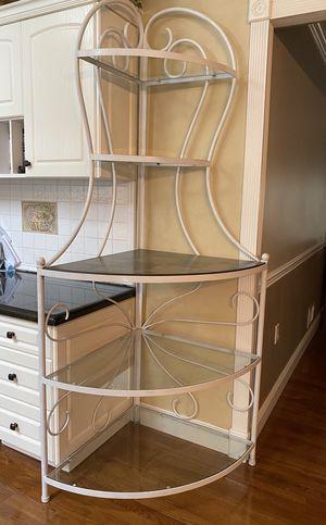 Bakers Rack -corner with 5 shelves for Sale in Englishtown, NJ