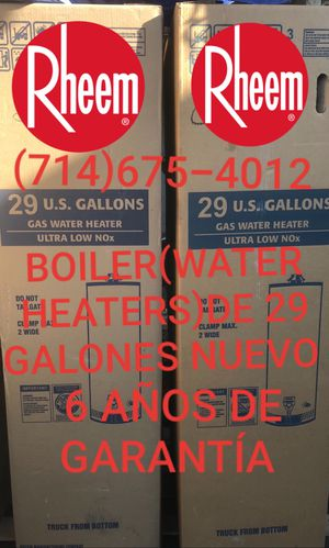 BOILER(WATER HEATERS)DE 29/30 GALONES NUEVO DE LA MARCA RHEEM!!!! for Sale in Santa Ana, CA