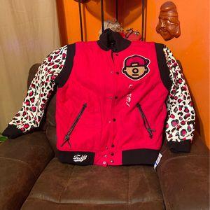 "XL Trukfit ""Beetroot Purple"" Leopard Print Varsity Jacket for Sale in Irving, TX"