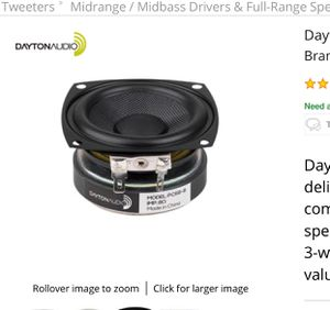 "Dayton Audio PC68-8 2-1/2"" Full-Range Poly Cone Driver (8 ohm) speakers for Sale in San Diego, CA"