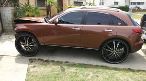 2004 Infiniti FX parting out or selling Whole vehicle runs and drive. Just. Put. New. Motor. 80,000.miles for Sale in CRYSTAL CITY, CA