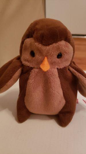 Hoot ( owl beanie baby) for Sale in East Wenatchee, WA