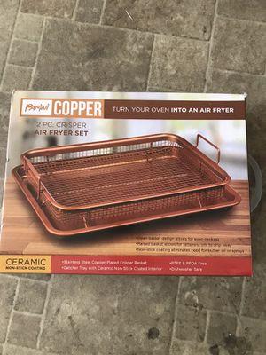 2pc air fryer set bakeware kitchen parini copper ceramic $12 for Sale in West Covina, CA