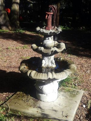 Concrete three tier fountain for Sale in New Port Richey, FL