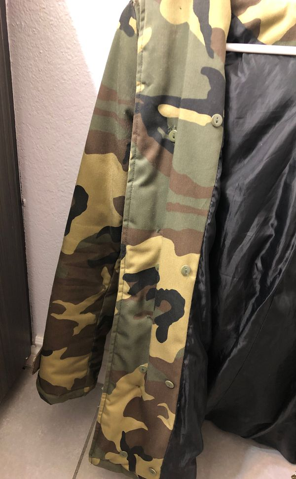 K Zell Camo Winter Jacket with hoodie size 2