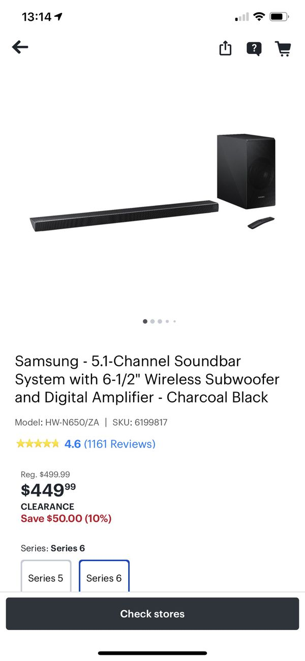Samsung soundbar and bass, will include compatible rear speakers