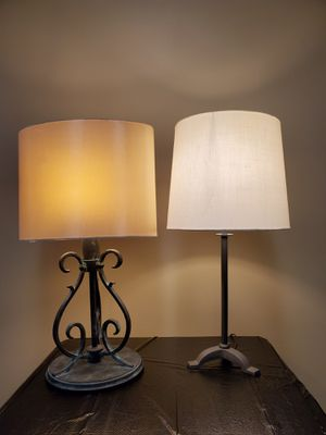 METAL TABLE LAMPS (2) - price is each with SHADE & BULB - can also buy w/o shade & bulb for less $ - firm prices. for Sale in Arlington, VA