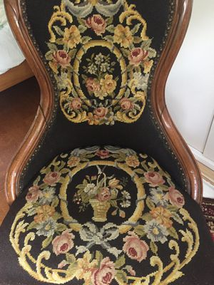 Beautiful needlepoint antique chair for Sale in Pittsburgh, PA