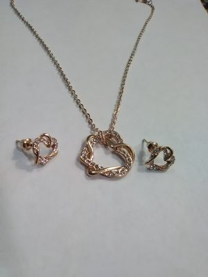 Heart Necklace and Earrings Set for Sale in Columbus, OH