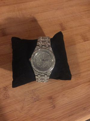 Iced out diamond watch lab diamonds for Sale in Carrollton, TX