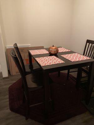 Dark wooden 4 chair table set for Sale in Atlanta, GA