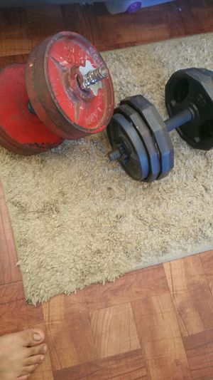 Olympic weight set total of 90 lbs for Sale in Los Angeles, CA