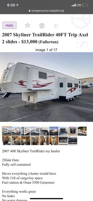 2007 skyline toy hauler 40ft for Sale in Lakeside, CA