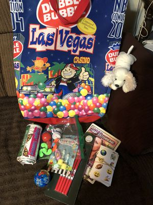 Large gum ball bag with large Las Vegas displays for Sale in Wichita, KS