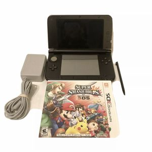 Nintendo 3DS XL Black System Console Bundle Charger Stylus And Super Smash Bros for Sale in Las Vegas, NV