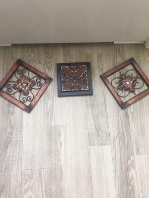 3 pieces wall decor for Sale in Alexandria, VA