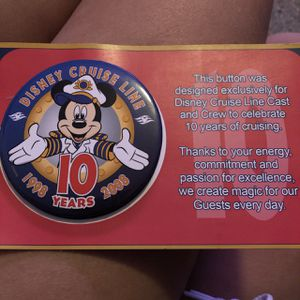 Disney Cruise Line Button Pin for Sale in Tampa, FL