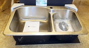 Glacier Bay All-in-One Dual Mount Stainless Steel 33 in. 2-Hole Double Bowl Kitchen Sink for Sale in Glendale, AZ